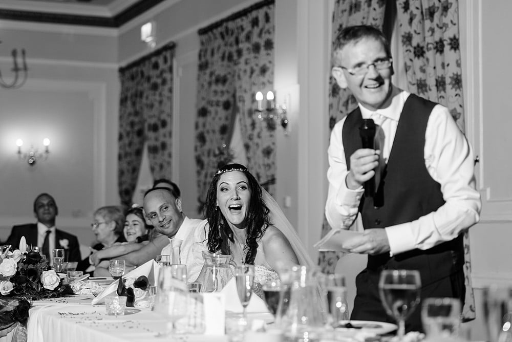 Funny wedding speaches at Tregenna Castle in St Ives 1