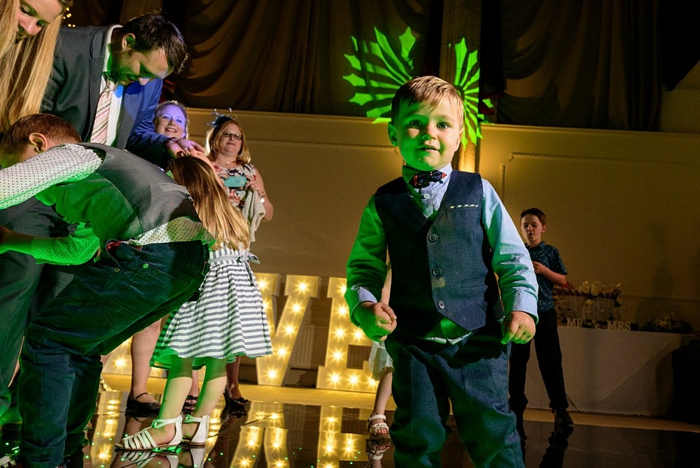 Kids dancing at a Alverton Hotel wedding 1