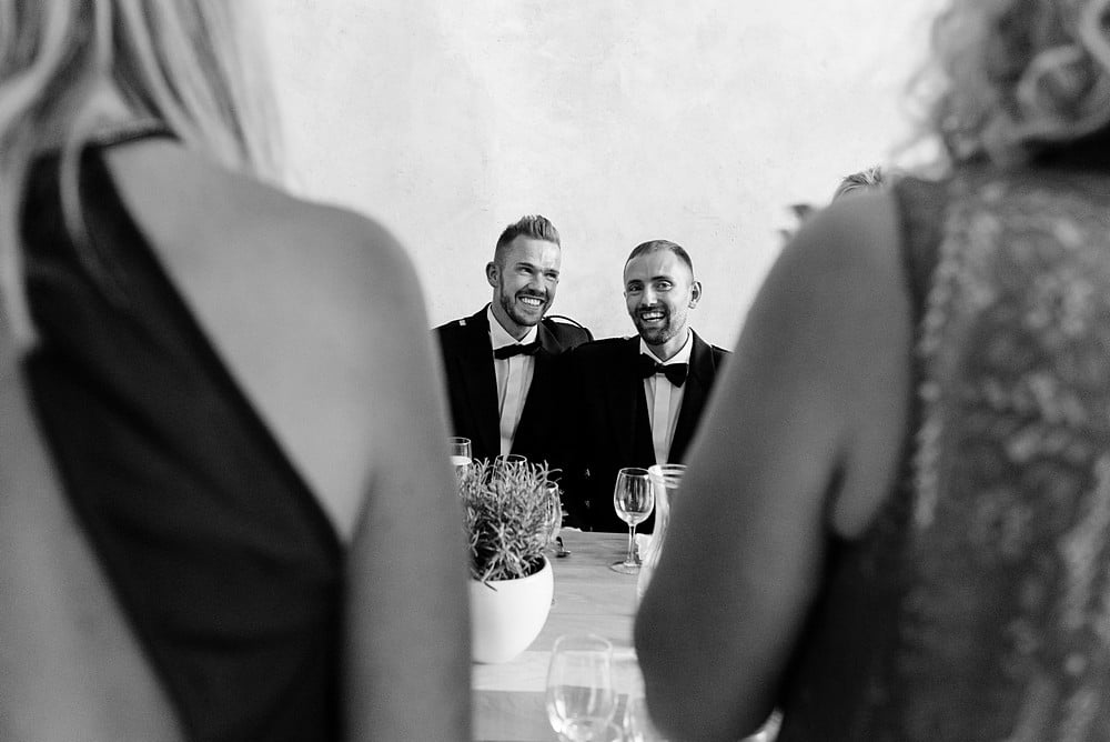 Civil partnership wedding at Upton Barns in Devon 1