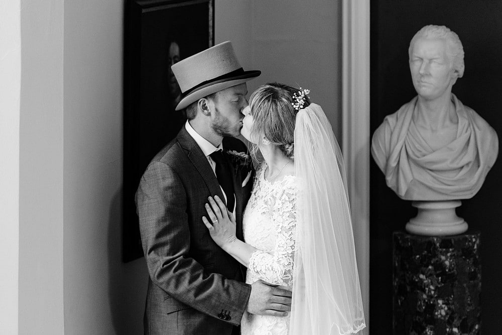 Happy couple at a Prideaux Place wedding 1