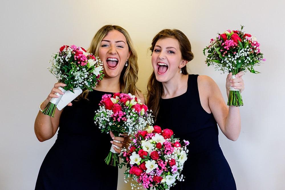 Happy Braidsmaids at the Greenbank Hotel wedding 1