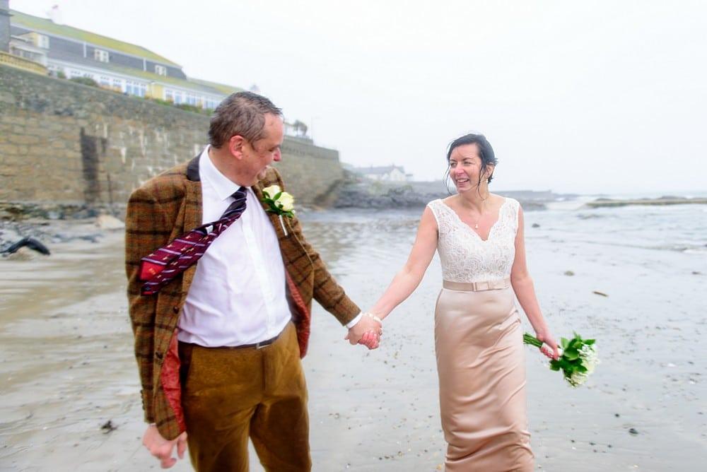 Wet wedding in Cornwall 1