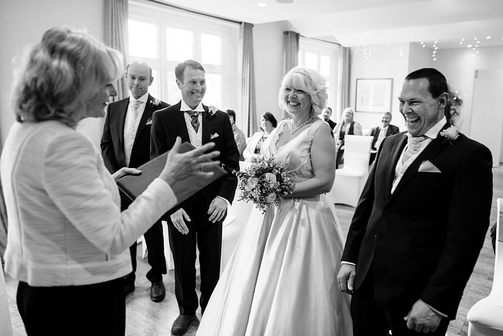 Wedding ceremony at the St Michael's Hotel in Falmouth 1