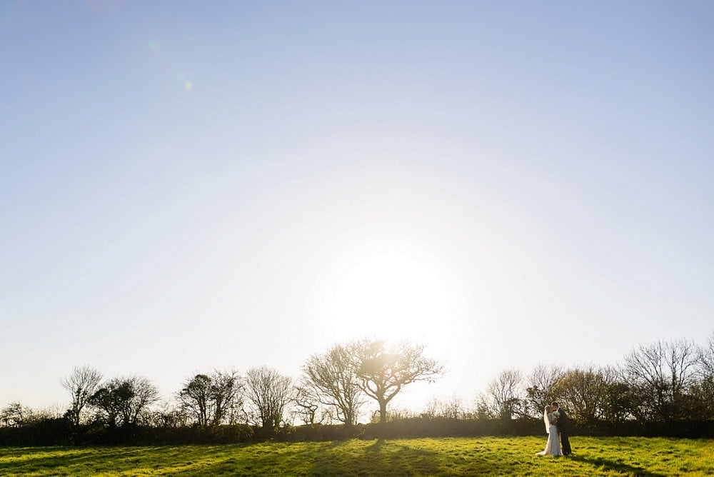 Bridal portaits at Trevenna Barns 1