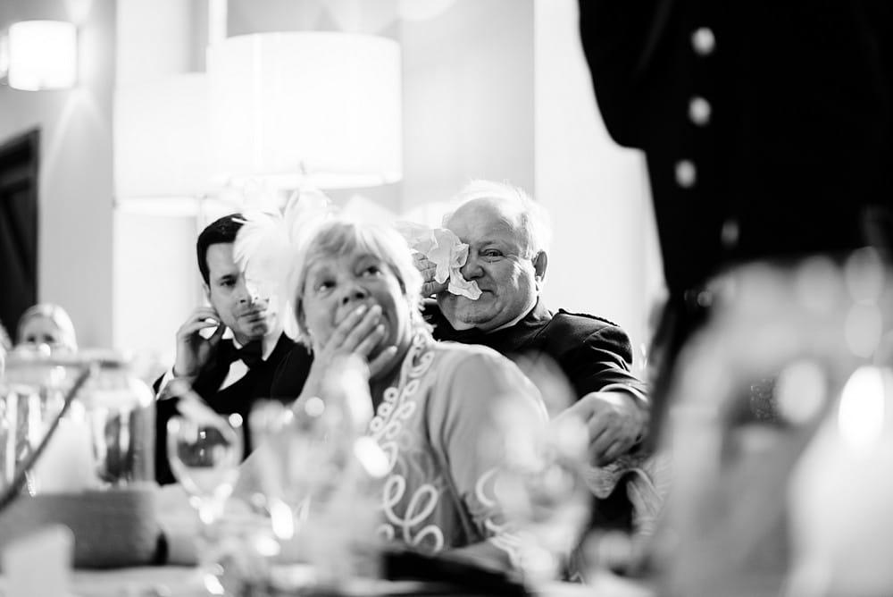 emotional wedding speeches at Pendennis Castle 1
