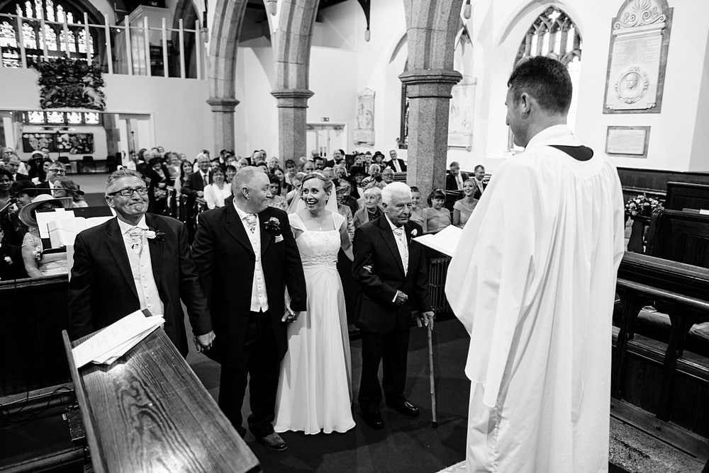Church wedding in Cornwall 1