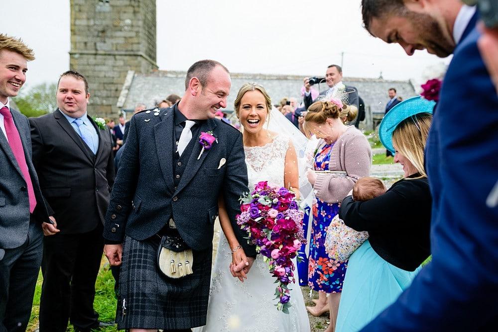 Wedding confetti Cornwall 1