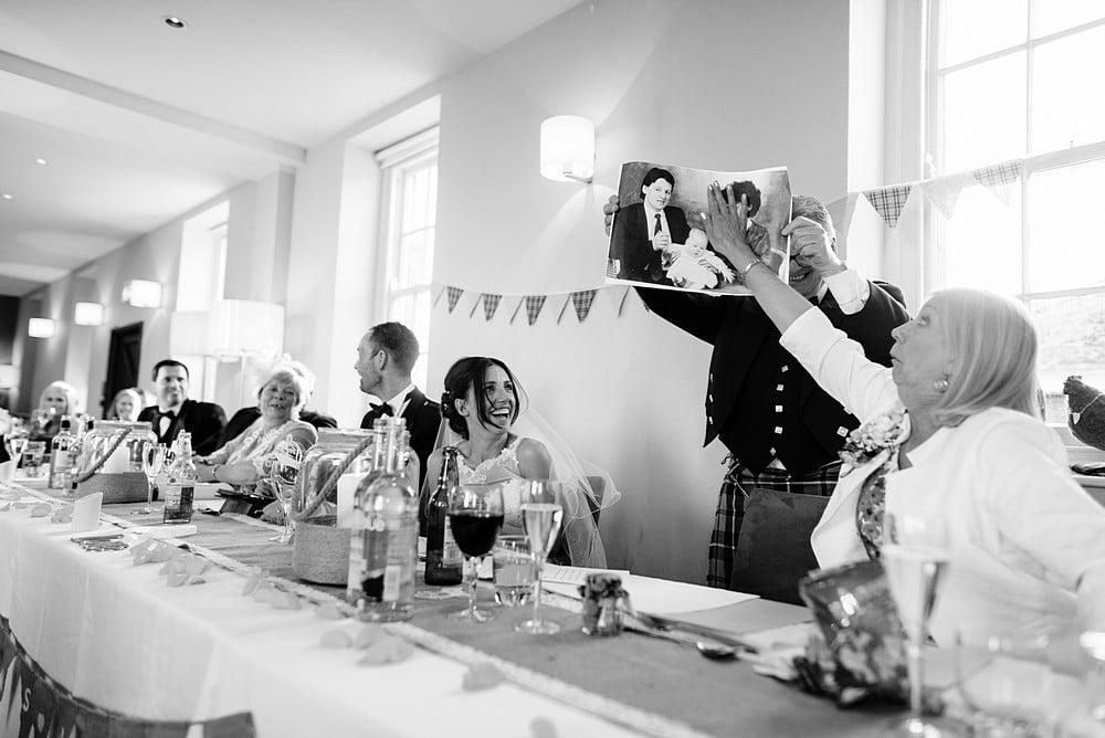 Pedennis Castle wedding speeches 1