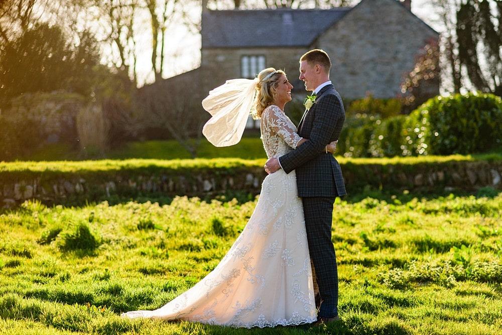 Wedding couple at Trevenna Barns 1