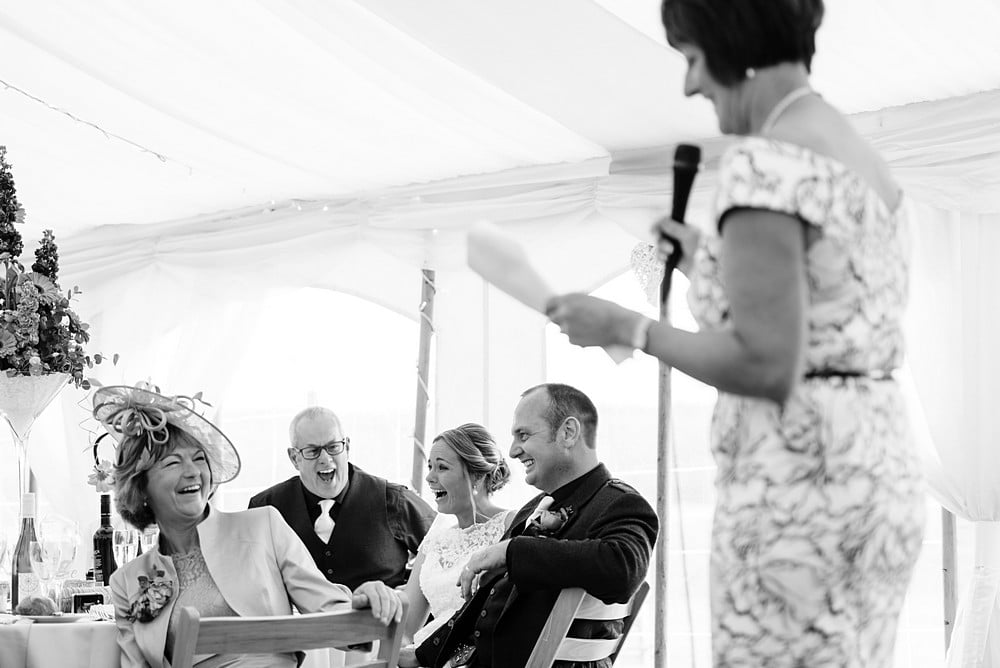 Marquee wedding in Cornwall 1