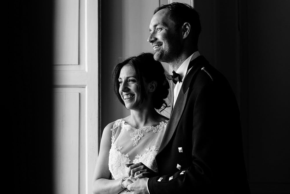 Happy couple at a Pendennis Castle wedding 1
