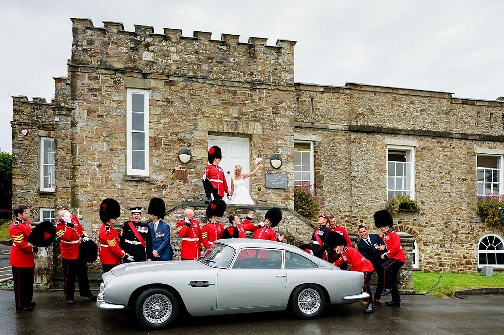 Queens guard wedding in Cornwall 1