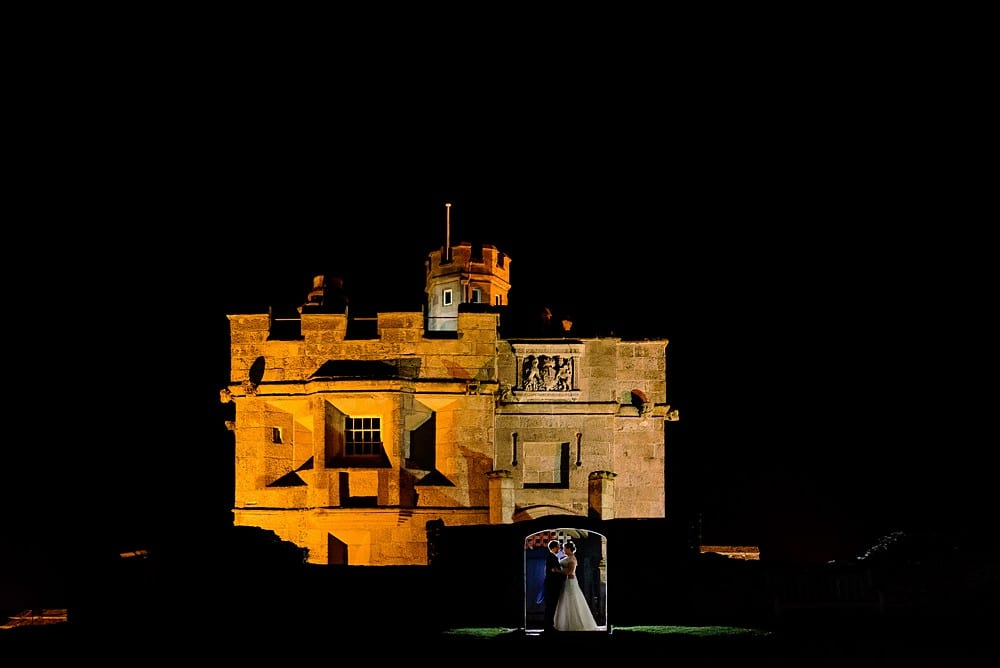 First kiss at a Pendennis Castle wedding 1