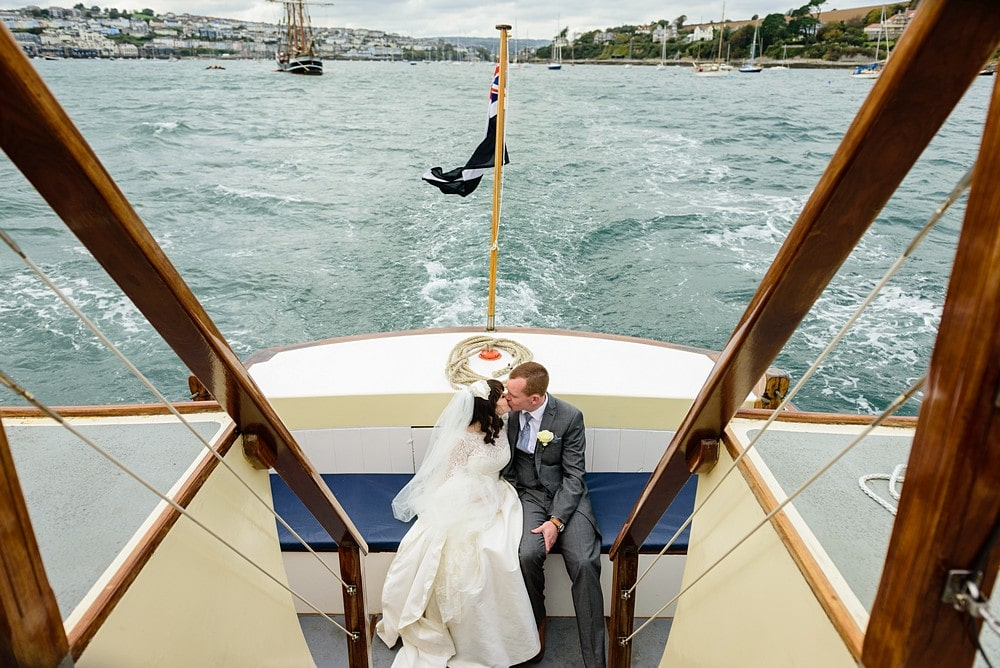 Wedding at the Fal River Boat in Cornwall 1