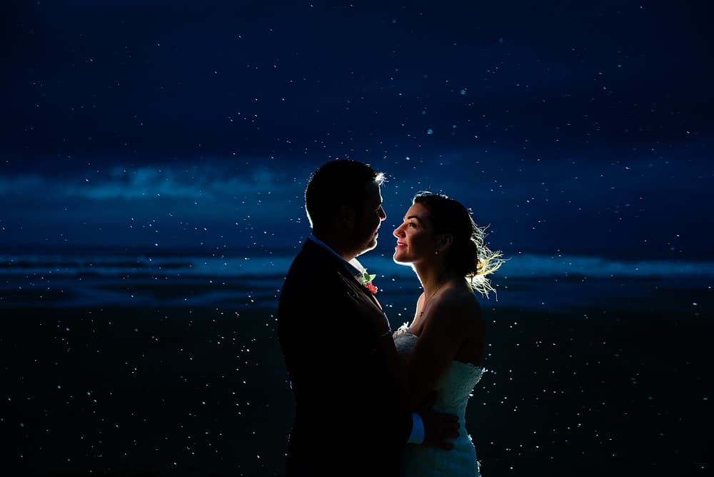 Bride and Groom on the beach at Watergate Bay in Newquay 1
