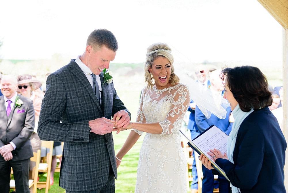 Wedding ceremony at Trevenna Barns in Bodmin 1