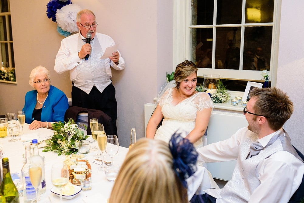 father of the bride wedding speech at Pendennis Castle 101