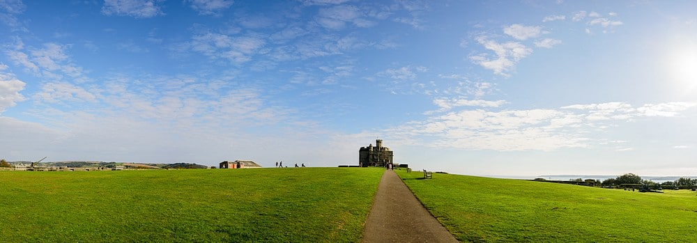 Panoramic of a Pendennis Castle wedding