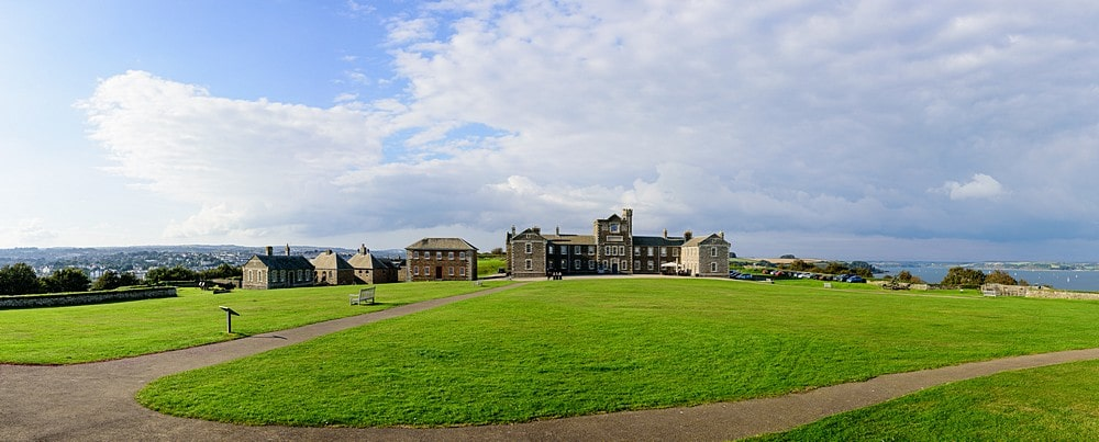 Panoramic of the Pendennis Castle barracks