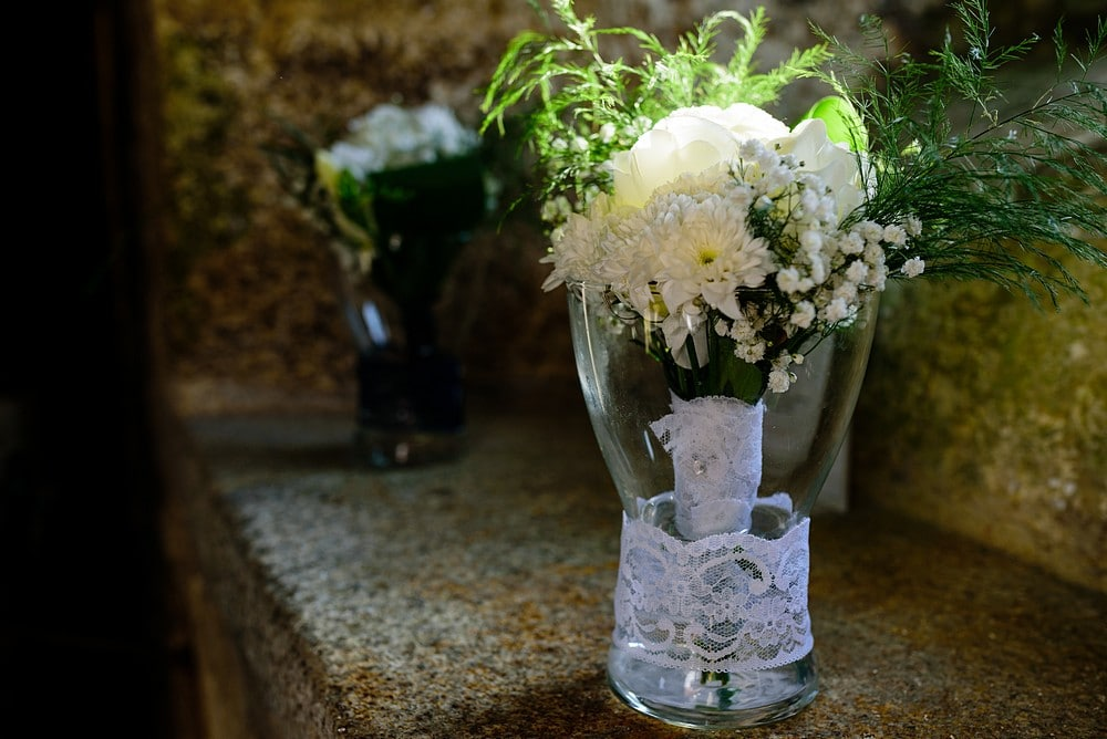 wedding flowers at Pendennis Castle 18