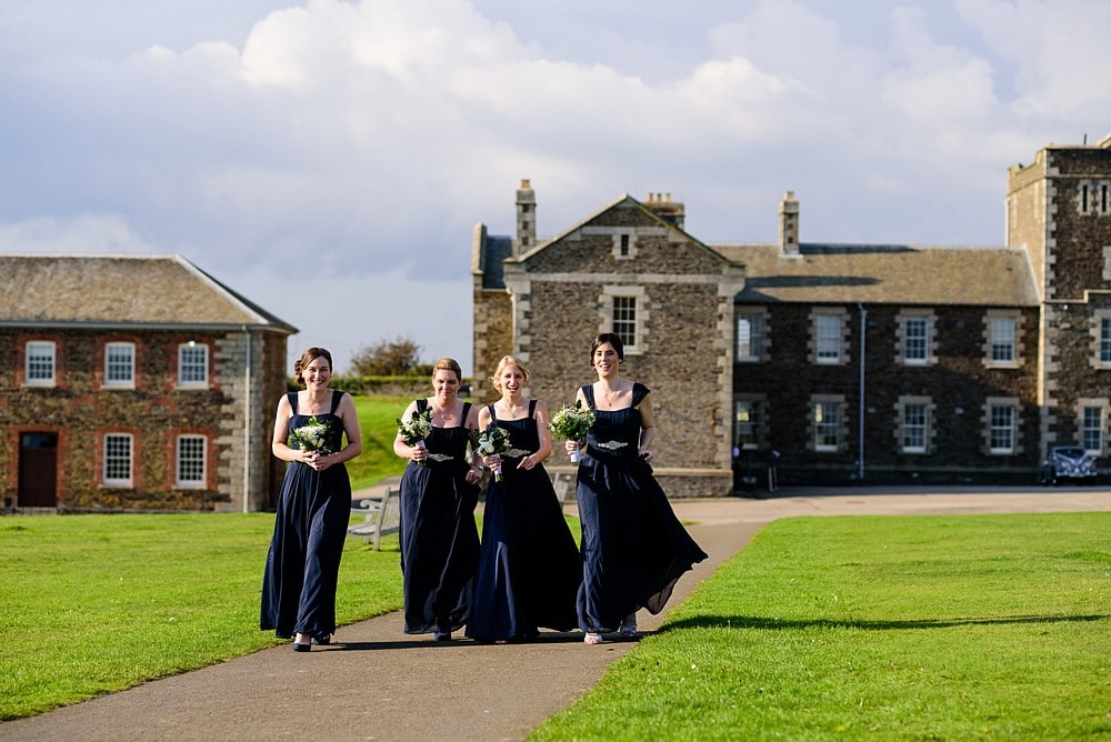 Bridesmaids at Pendennis Castle 20