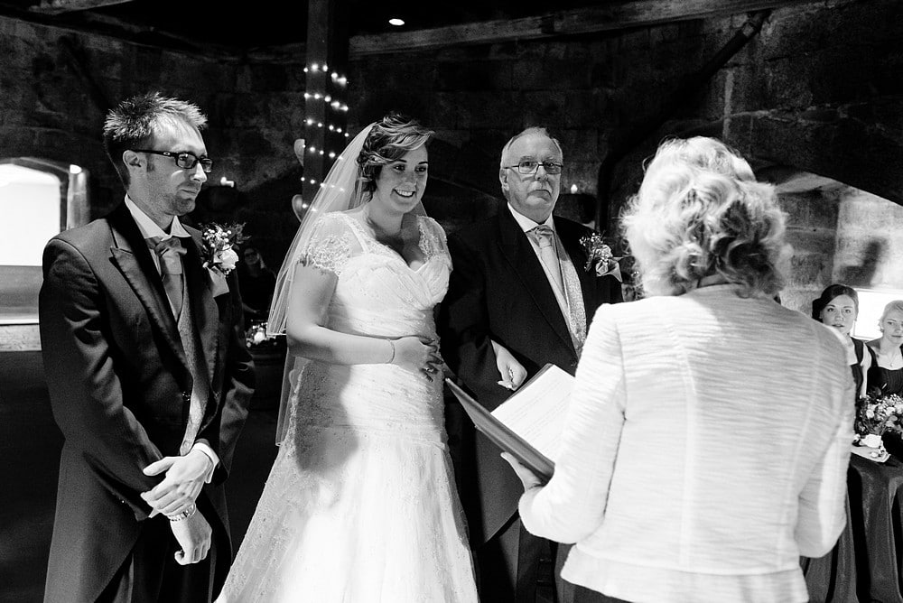 wedding ceremony at Pendennis castle 35