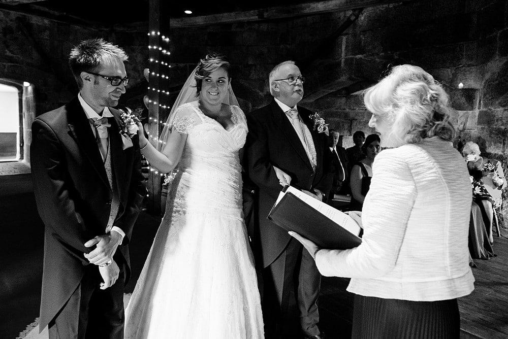 wedding ceremony at Pendennis castle 36