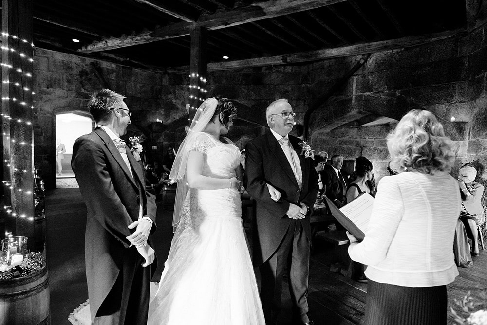 wedding ceremony at Pendennis castle 37