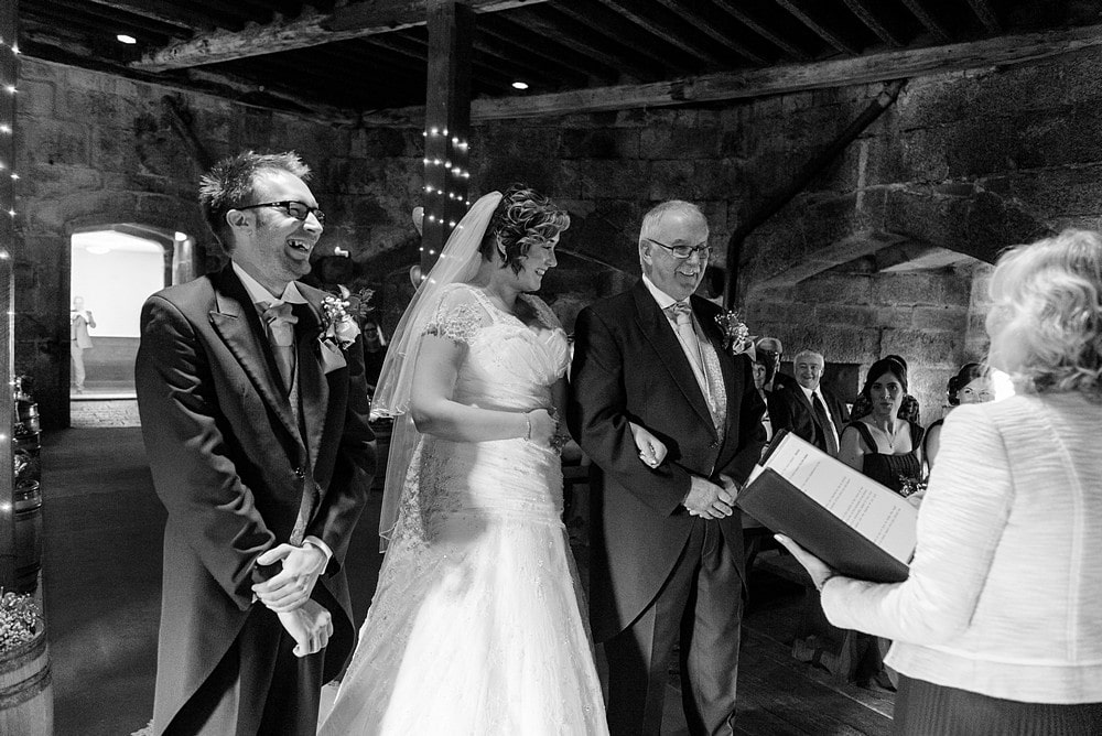 wedding ceremony at Pendennis castle 38
