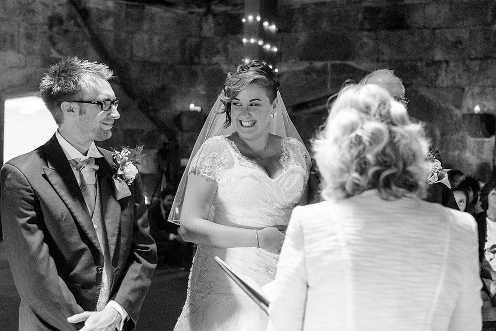 wedding ceremony at Pendennis castle 340