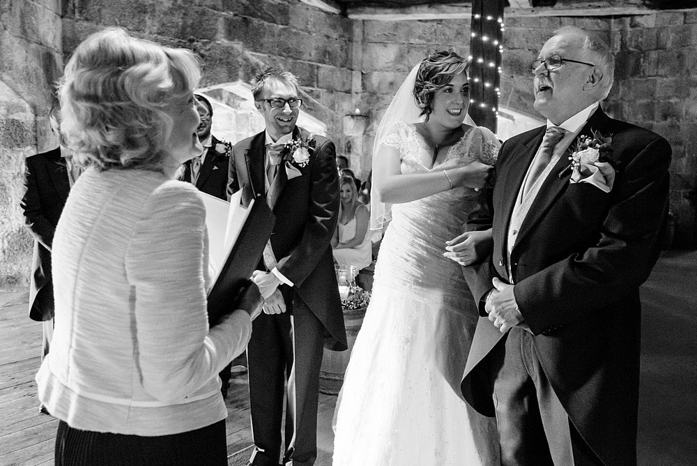 wedding ceremony at Pendennis castle 42