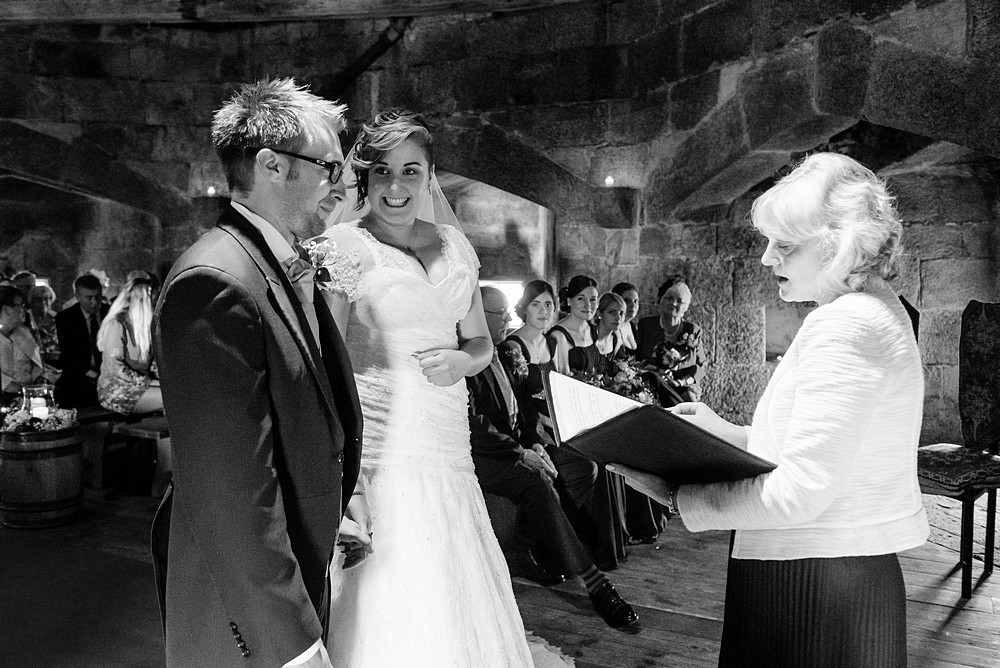 wedding ceremony at Pendennis castle 43