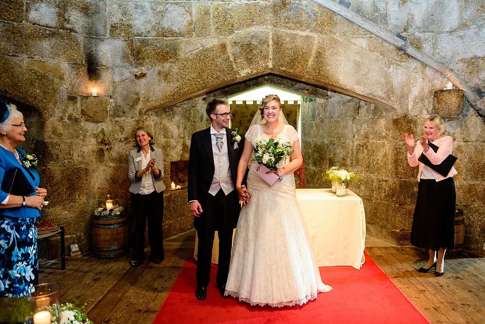 Pendennis castle wedding ceremony 57