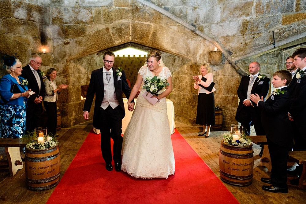 Pendennis castle wedding ceremony 58