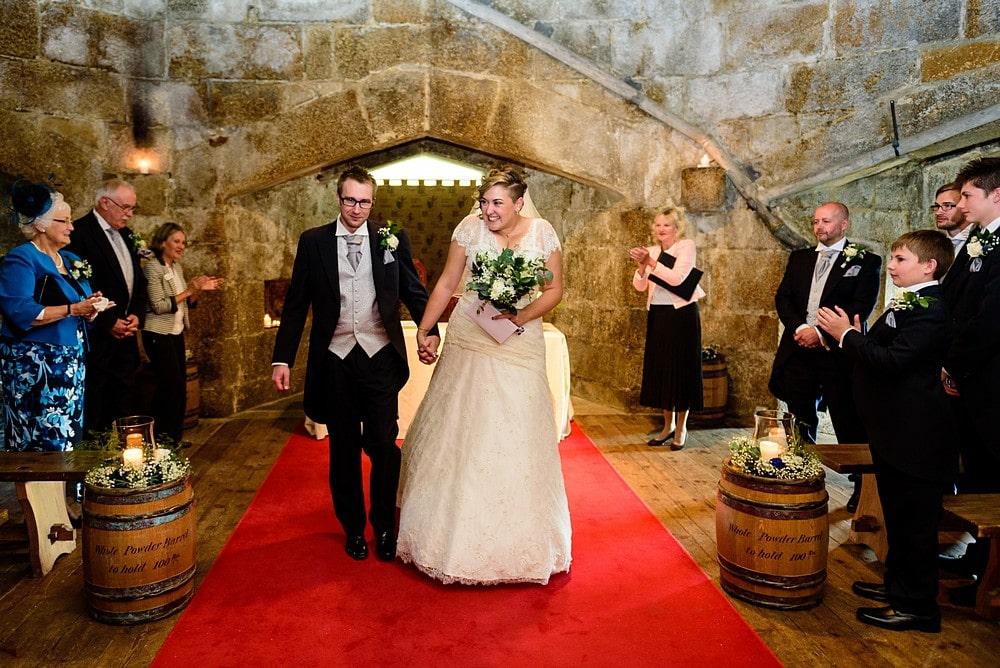 Pendennis castle wedding ceremony 58