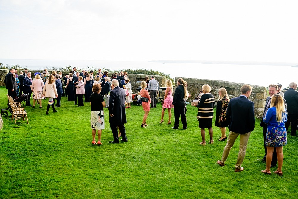 chemise at a pendennis castle wedding