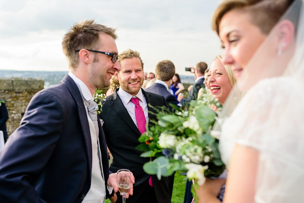 Candid wedding photography at Pendennis Castle 67