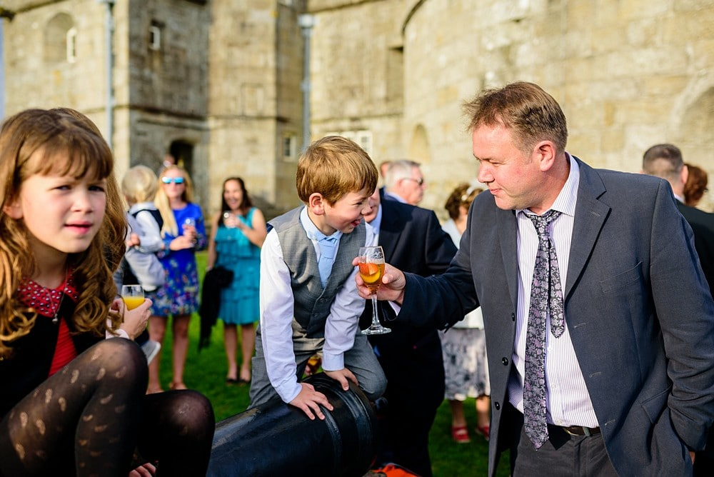 Candid wedding photography at Pendennis Castle 68