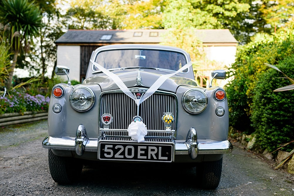 Wedding vehicles at Pendennis Castle