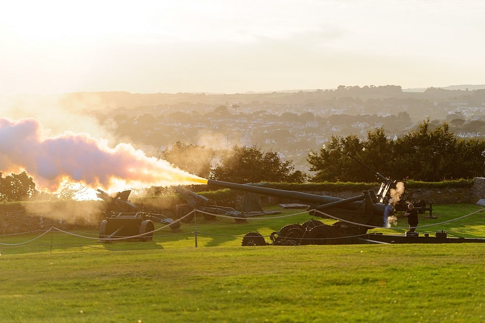 firing of the canon at Pendennis Castle