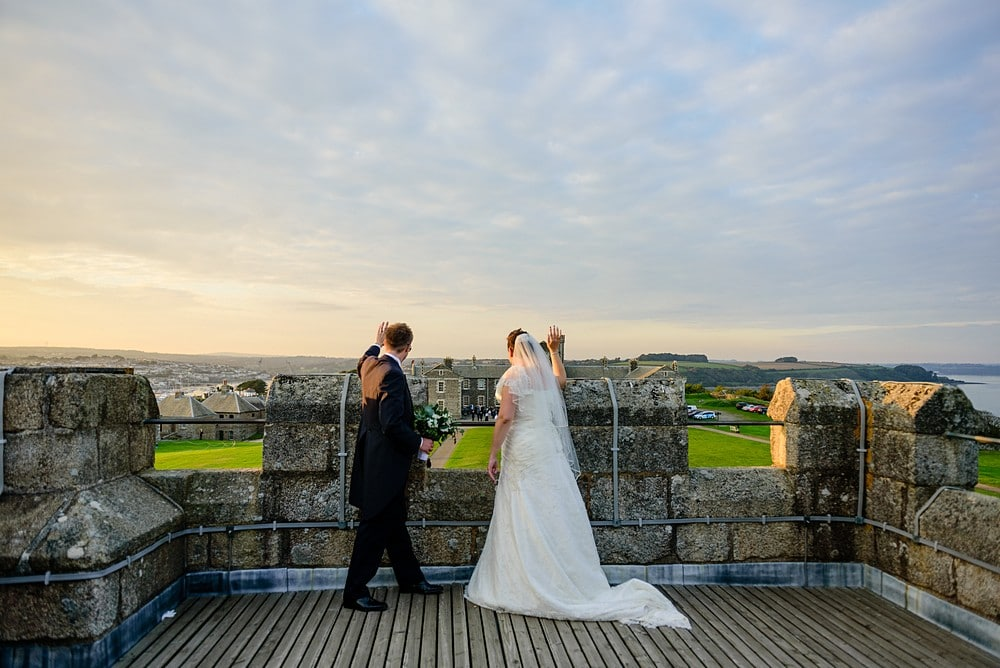 Dave & Ellen's wedding at Pendennis Castle 88