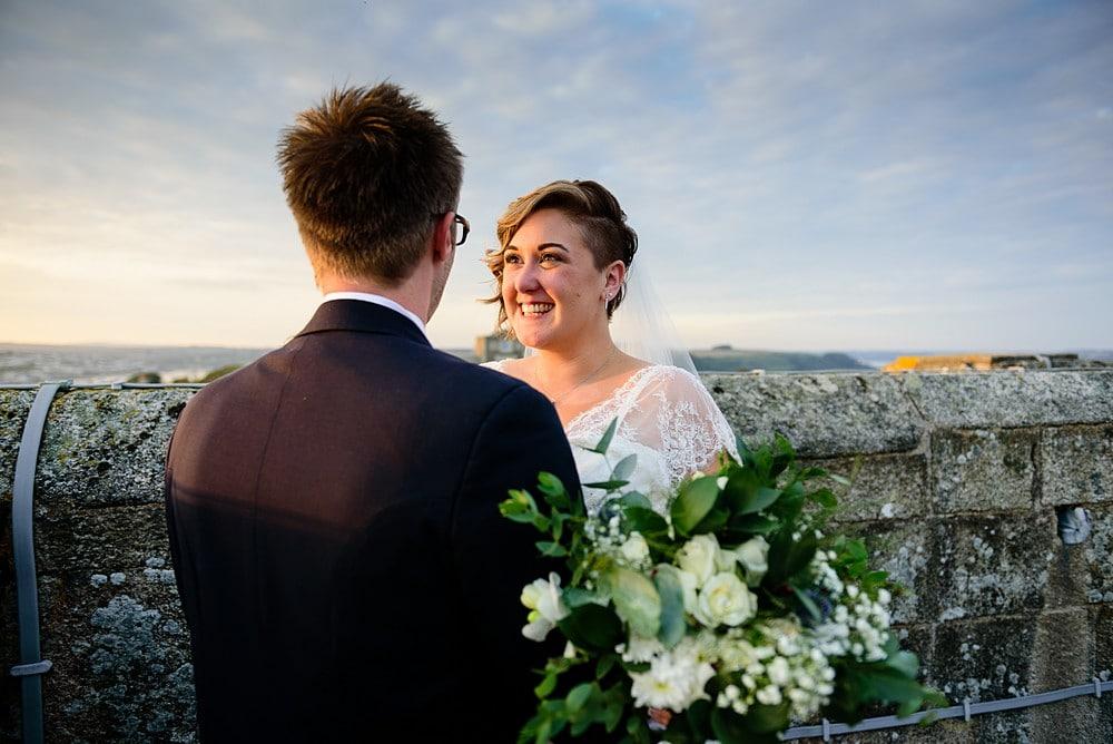 Dave & Ellen's wedding at Pendennis Castle 91