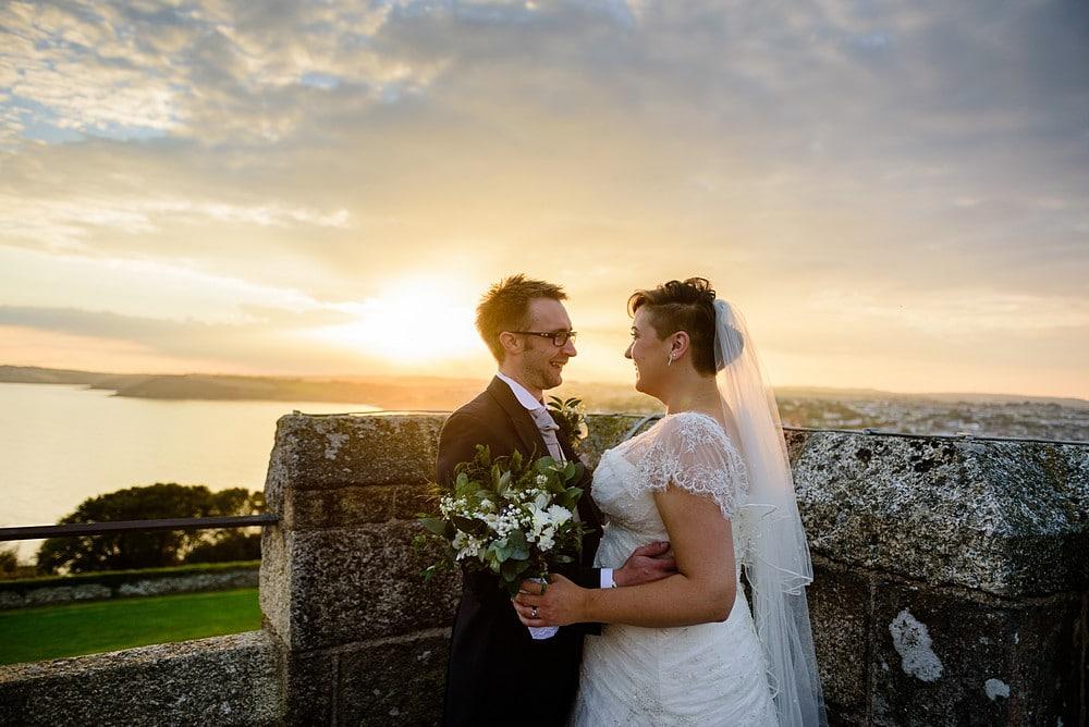 Dave & Ellen's wedding at Pendennis Castle 92