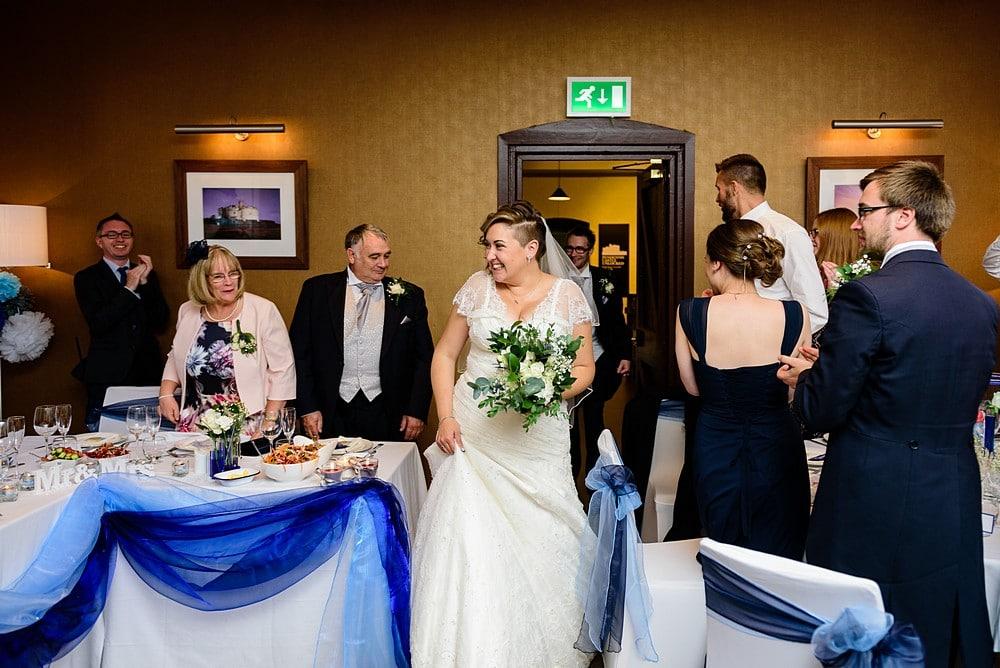 wedding reception at Pendennis Castle 95