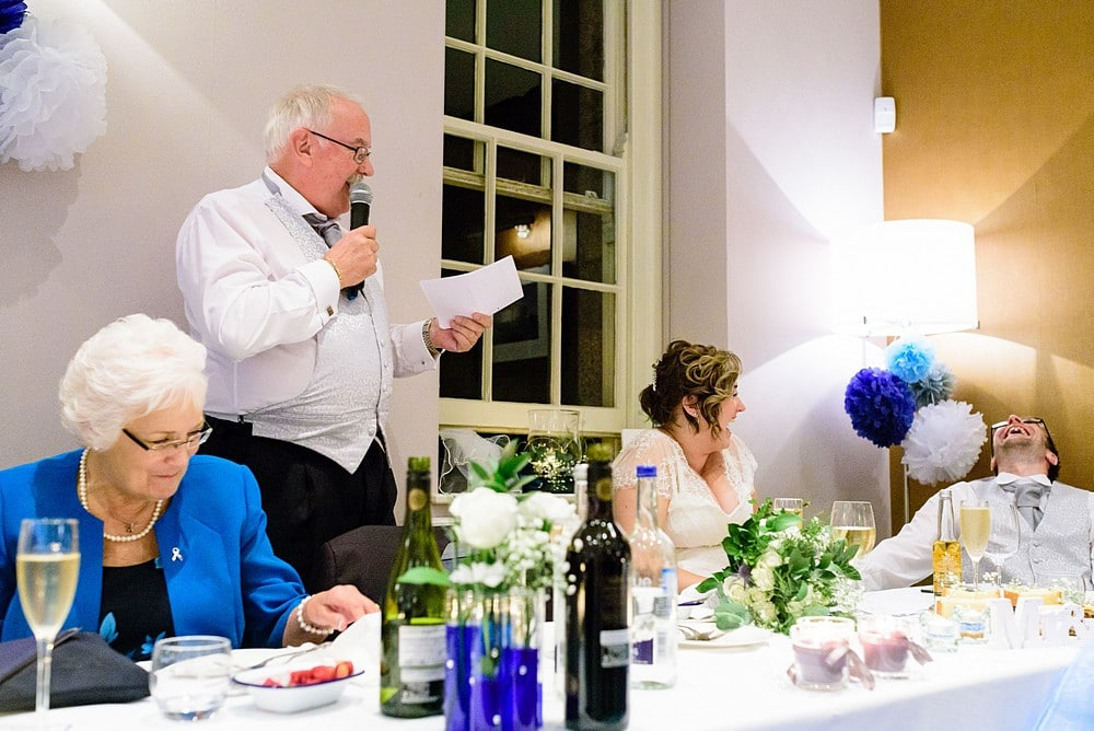 father of the bride wedding speech at Pendennis Castle 99