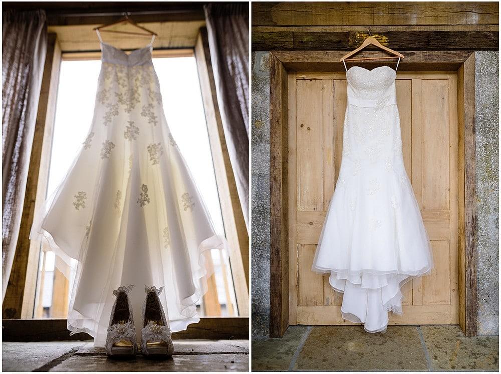 Beautiful wedding dress at Nancarrow Farm in Cornwall 10