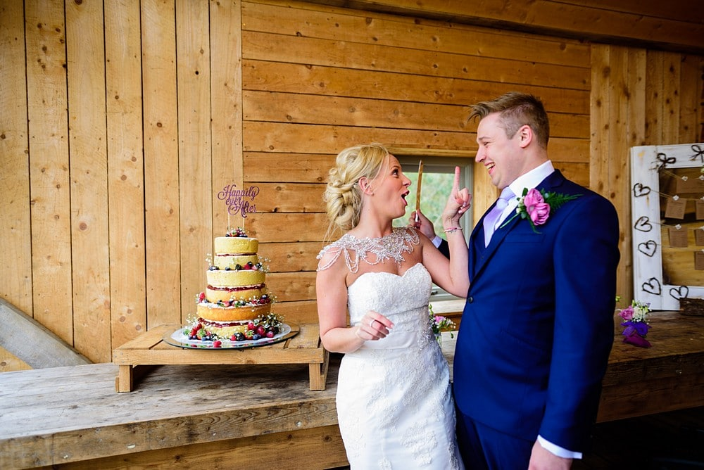 Cake cutting at Nancarrow Farm in Cornwall 115