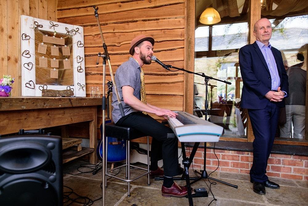 Kaj Music playing at Nancarrow Farm 121