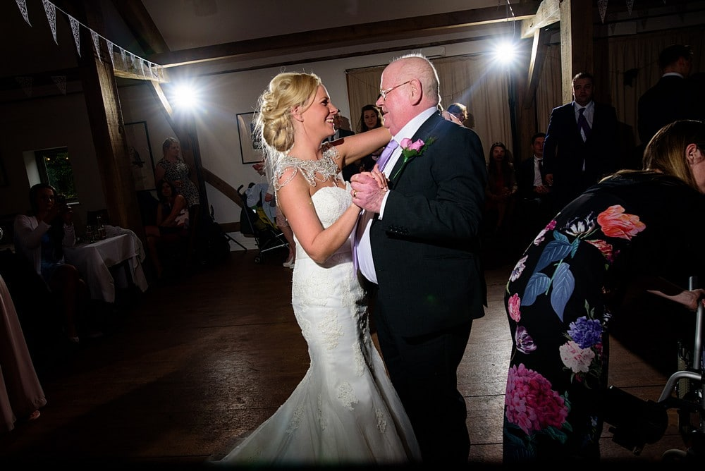Father and bride dance at Nancarrow Farm 131