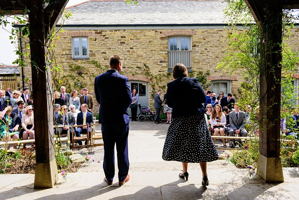 Wedding ceremony at Nancarrow Farm 19
